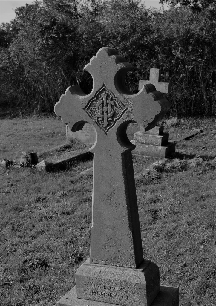 Cross in the front graveyard. This plot is still in use as the new churchyard is to low on the water table to be used for interments.