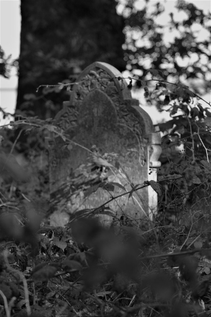 A spectral grave stone.