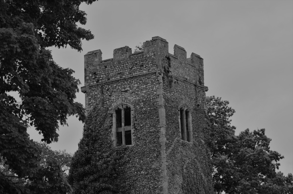 Front of the ruined tower.